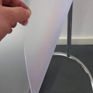 Mat doorzichtig transparant PVC tafelzeil
