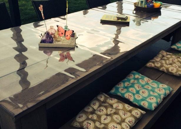 Doorzichtig tafelzeil op maat