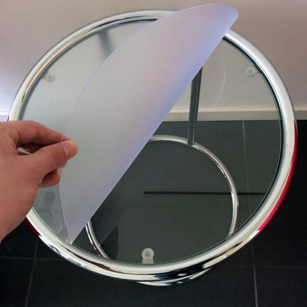 Tafelzeil Rond Mat Transparant Doorzichtig Speciaal voor Glazen Tafels Detail